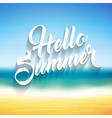summer background hello summer lettering text vector image vector image
