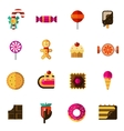 Sweets Icons Set vector image vector image