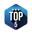 Top 5 - Five hexagon patch vector image
