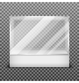 Transparent display glass box isolated on