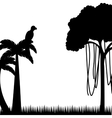 tree palm tropical icon vector image vector image