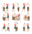 unhappy family husband and wife or couple of vector image vector image