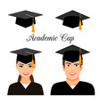 university graduate students vector image
