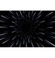 Warp stars galaxy vector image vector image