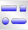 web elements button set vector image