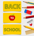 Welcome back to school Cute note papers vector image vector image