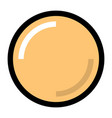yellow blank button with glare and shadow vector image vector image