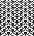 skull black pattern vector image
