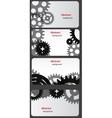 Design template set - business card vector image
