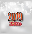 2019 happy new year background vector image