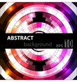Abstract geometric disco glowing of background vector image vector image