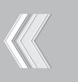 abstract gray arrow vector image vector image