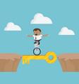 african businessman acrobatic bike show on vector image