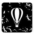Air balloon icon grunge style vector image vector image
