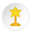 Award star icon cartoon style vector image
