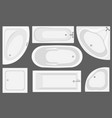 bathtub top view collection vector image