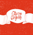 beautiful christmas inscription vector image vector image