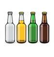 beer bottles set of empty vector image vector image