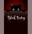 black friday poster with cute black cat vector image vector image