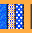 blue and yellowpatterns vector image vector image