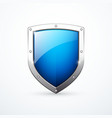 blue shield icon vector image vector image