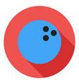 bowling icon bowling ball icon sports ball symbol vector image