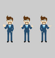 business man set v1b vector image