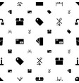 cardboard icons pattern seamless white background vector image vector image