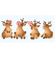 christmas reindeer collection vector image vector image