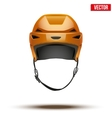 Classic orange Hockey Helmet isolated on vector image vector image