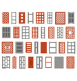 clay and concrete bricks vector image vector image