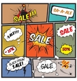 Comic best offer sale promotion bubbles vector image vector image