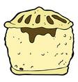 comic cartoon meat pie vector image vector image