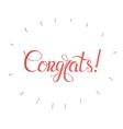 Congratulations cardCongrats Lettering vector image
