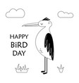 cute bird scandinavian vector image vector image