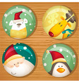 Cute christmas badges vector | Price: 1 Credit (USD $1)