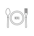 cutlery knife fork and spoon vector image