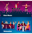 Dance Club 2 Flat Banners Set vector image vector image