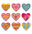 decorative hearts vector image vector image