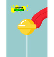 Drugs lollipop Acid candy on a stick Narcotic vector image vector image