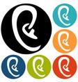 ear icon vector image vector image