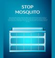 electric mosquito trap vector image vector image