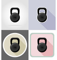 fitness flat icons 11 vector image