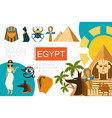 flat egypt symbols composition vector image
