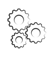 gear machine design isolated cog icon vector image vector image
