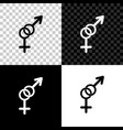 gender icon isolated on black white and vector image vector image