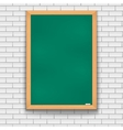 Green school board brick wall vector image vector image