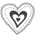 hand drawn heart valentines day vector image vector image