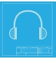 Headphones sign White section of vector image vector image