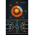 Infographics element with sports basketball ball